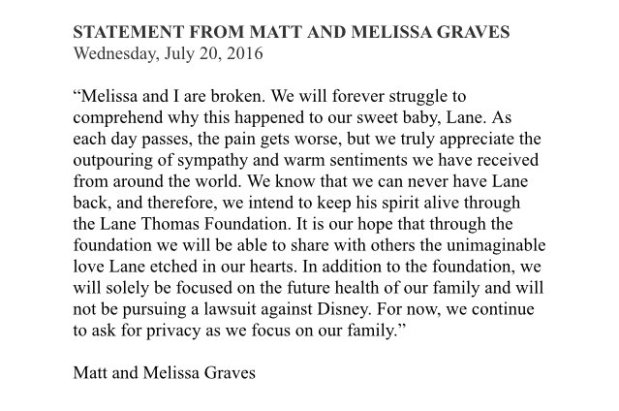 Graves Statement