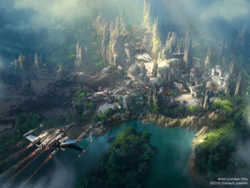 Star Wars Land concept artwork released July 11, 2016 by Disney Parks Blog.